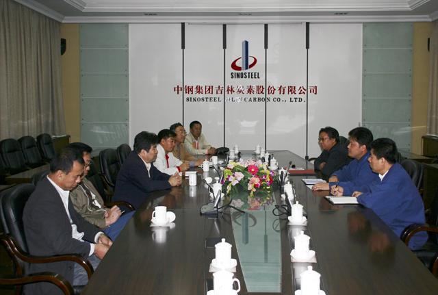 吉林市政协副主席张铁军率队到中钢吉炭工作调研